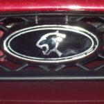 Eine Cougarpflaume als Emblem