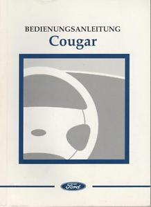 Ford Cougar Bedienungsanleitung